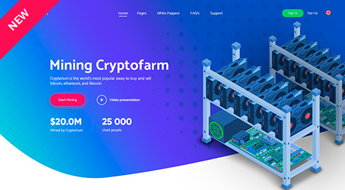 Crypterium cryptocurrency & ico landing pages html pack free