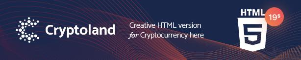 Cryptoland - ICO Landing Page WordPress Theme - 1