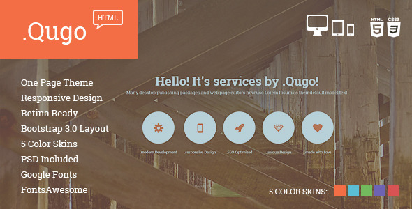 Qugo - One Page Multi Purpose Modern HTML Template - 5