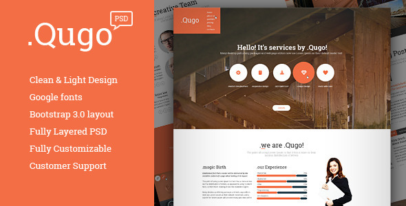 .Qugo - creative Multi-Purpose PSD Theme