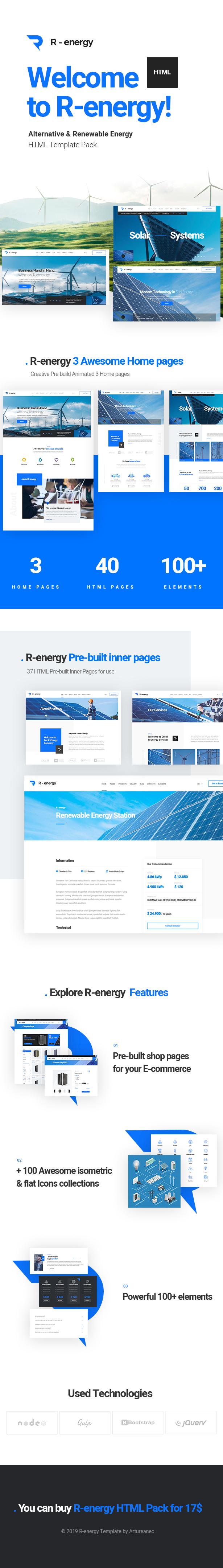 R-energy | Alternative & Renewable Energy HTML Pack - 5