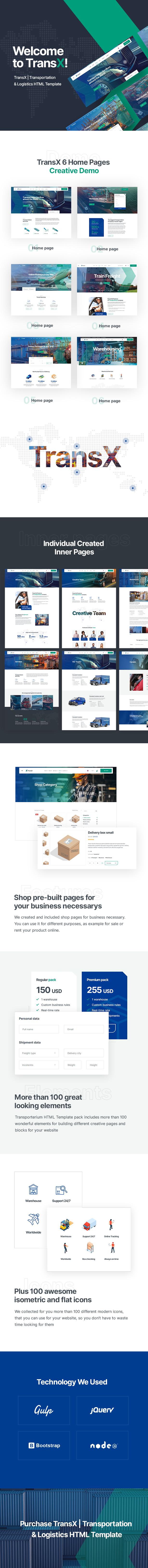 TransX | Transportation & Logistics HTML Template - 1
