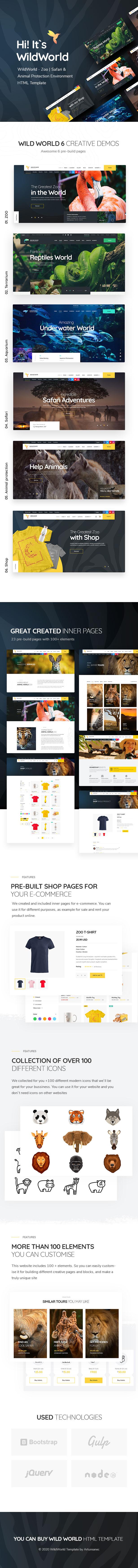 WildWorld - Zoo | Safari & Animal Protection Environment HTML Template - 2