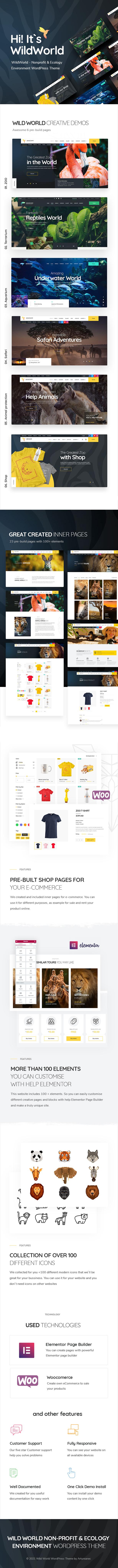 WildWorld | Nonprofit & Ecology WordPress Theme - 2